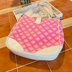 💕 Dooney & Burke signature pink & white hobo 💕